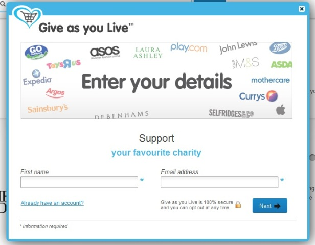 Give as you live screenshot 1