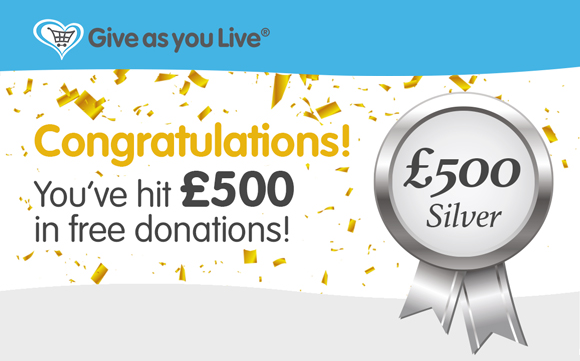 Give as you Live - Congratulations JR Whippet Rescue Banner