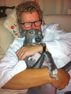 Sebastian Faulks with Hector